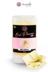 Lubrifiant comestible chocolat blanc : Lubrifiant 100% comestible au parfum chocolat blanc signé de la marque Espagnole Secret Play.